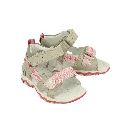 31824-0sz szaro różowy, sandały dziecięce, rozmiary: 19-26 marki Bartek