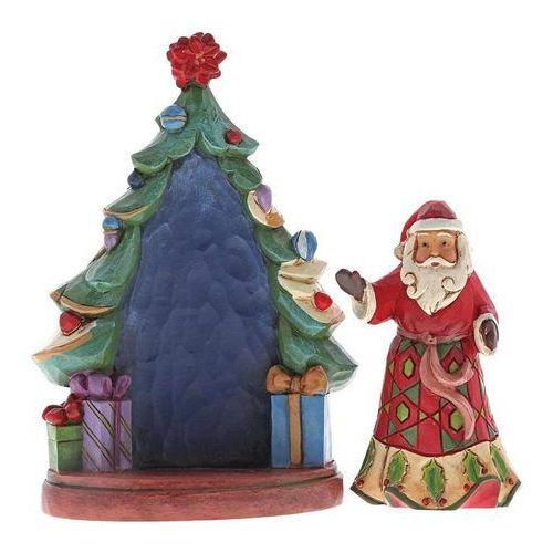 Mikołaj i choinka z prezentami santa with tree (set of 2) 4056781 figurka ozdoba świąteczna marki Jim shore