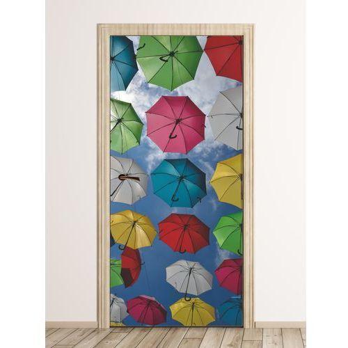 Wally - piękno dekoracji Fototapeta na drzwi kolorowe parasole fp 6271