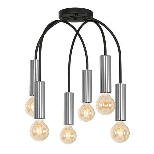 Luminex loppe 601 plafon lampa sufitowa 6x60w e27 czarny / chrom