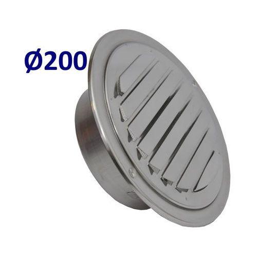 Kratka nierdzewna czerpnia wyrzutnia UELA Średnice od 100mm do 200mm. CZerpnia do Wentylacji i Rekuperacji Średnica [mm]: 200