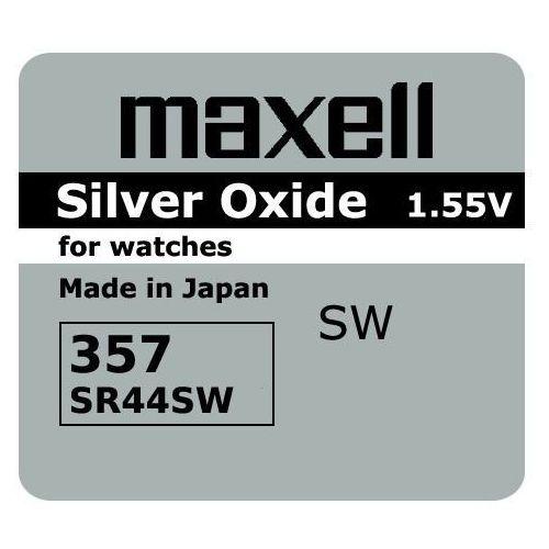 Bateria srebrowa mini 357 / 303 / sr 44 sw / g13 marki Maxell