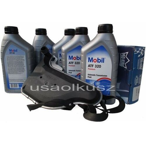 Filtr oraz olej skrzyni biegów  atf320 pontiac trans sport 3,4 / 3,8 wyprodukowany przez Mobil