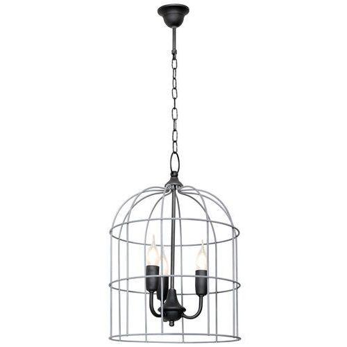 Lampa wisząca druciana klatka zwis Aldex Kolibri 3x40W E14 szara 805E/21 (5904798635893)
