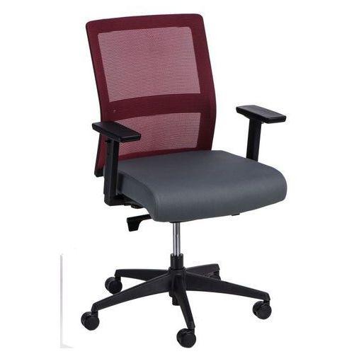 Fotel biurowy Press czerwony/szary (5902385728652)