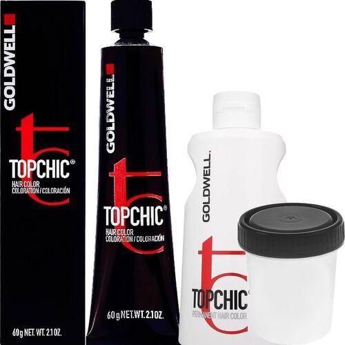 Goldwell topchic, zestaw do farbowania włosów 60ml + oxydant 60ml 2-a ciemna popielata czerń 3%