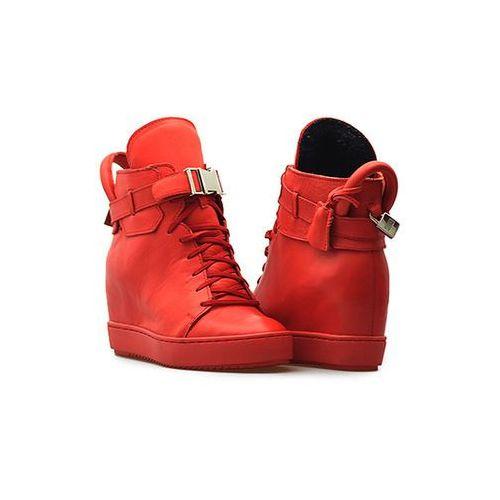 Sneakersy 9501 czerwone lico marki Simen