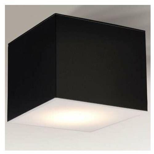 Shilo Lampa sufitowa zama 7056 natynkowa oprawa metalowa led 15w 3000k kostka cube czarna (5903689970563)