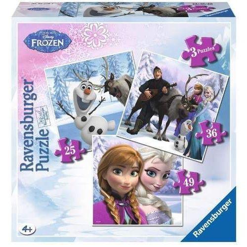 Ravensburger Puzzle 3 w 1 - frozen: przyjaciele
