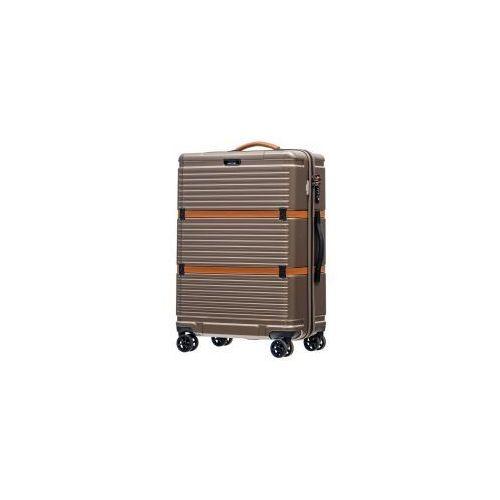 Puccini walizka średnia twarda z kolekcji oxford pc023 materiał policarbon zamek szyfrowy tsa