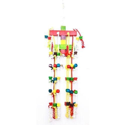 Hp birds Kolorowa zabawka dla ptaków cascade happypet aż 100 cm