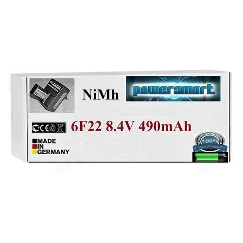 Powersmart Najmocniejszy akumulator 9v / 8,4v 6f22 490 mah