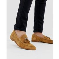 River island suede tassle loafers in mustard - tan