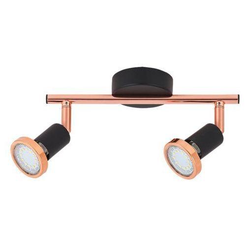 Listwa lampa sufitowa valentine 2x50w gu10 czarny mat/miedź 6847 marki Rabalux