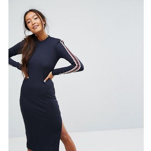 Monki Shoulder Pad Midi Dress - Blue, 1 rozmiar