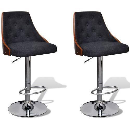 stołki barowe, 2 szt., materiałowe, regulowana wysokość marki Vidaxl