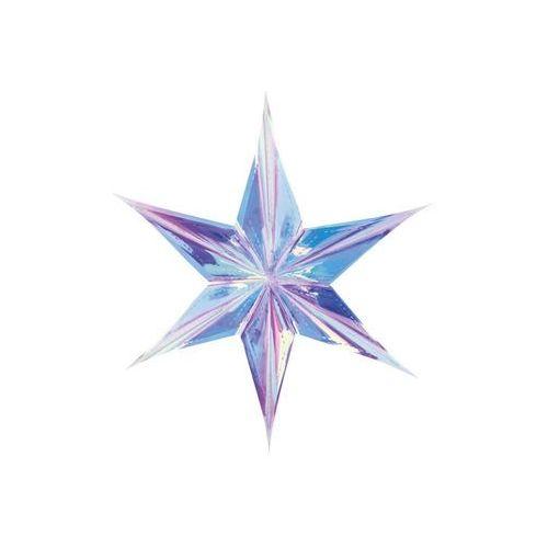 Party deco Dekoracja wisząca gwiazda foliowa opalizująca - 40 cm (5900779101210)