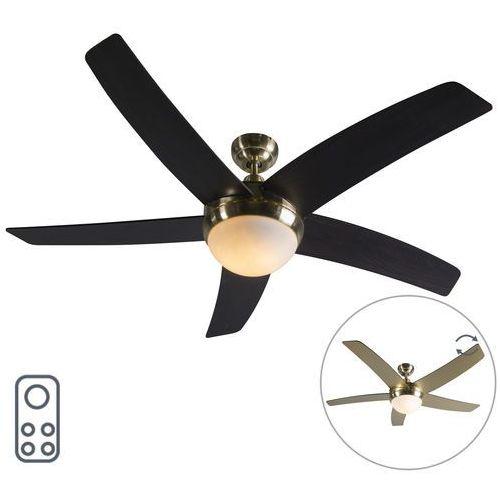 Qazqa Wentylator sufitowy złoty z pilotem - cool 52