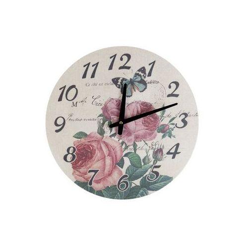 Home Zegar wiszący na ścianę róże do powieszenia płótno