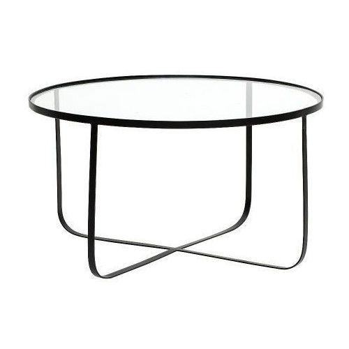Harper stolik kawowy okrągły, czarny, szkło - Bloomingville