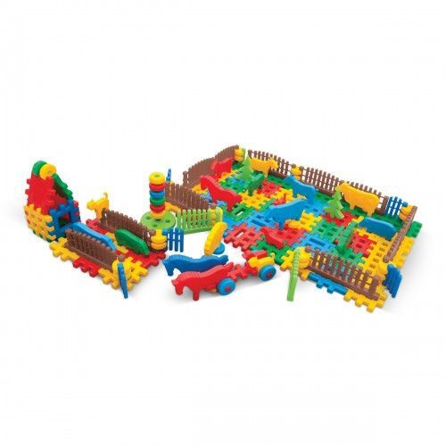 Klocki konstrukcyjne ranczo zabawka dla dzieci