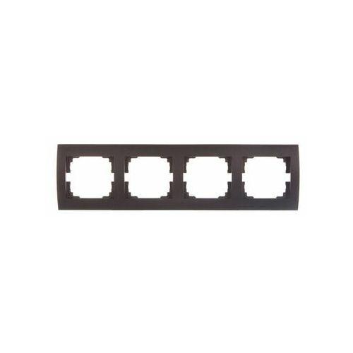 KANLUX LOGI 02-1490-041 grafit Ramka poczwórna pozioma 25297 (5905339252975)