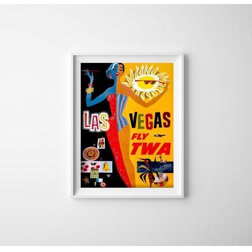Plakat w stylu vintage Plakat w stylu vintage Las Vegas Fly TWA David Klein