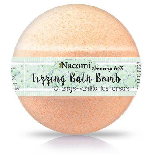 - musująca kula do kąpieli o zapachu pomarańczy i wanilii: rozmiar - 130g marki Nacomi