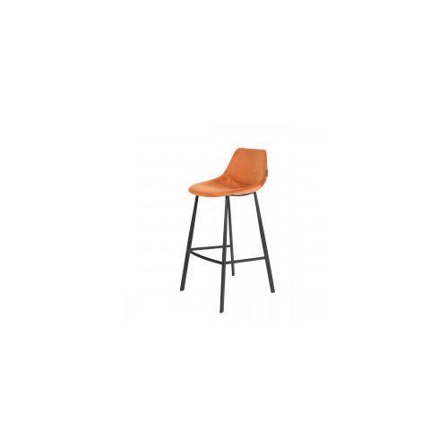 Stołek barowy franky velvet pomarańczowy - dutchbo marki Dutchbone