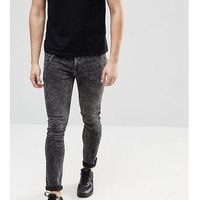 Brooklyn Supply Co Super Skinny Jeans In Acid Wash With Chain - Black