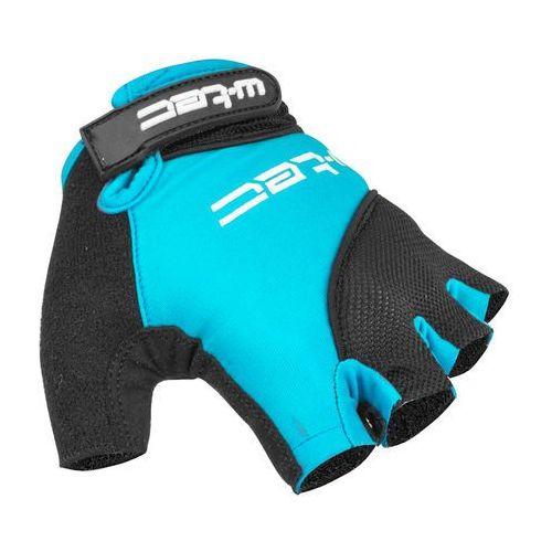 Rękawice rowerowe kolarskie sanmala amc-1023-22, niebieski-czarny, l marki W-tec
