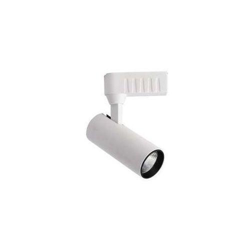 Light prestige Lampa sufitowa rocca lp-1019/1w wh regulowana oprawa metalowa led 10w do systemu szynowego 1-fazowego tuba biała (5907796366448)