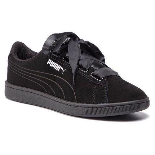 Sneakersy - vikky v2 ribbon s 369726 01 puma black/puma black/silver marki Puma