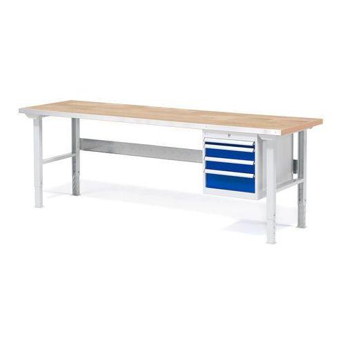 Stół warsztatowy z blatem o powierzchni dębowej 800x750x2000mm