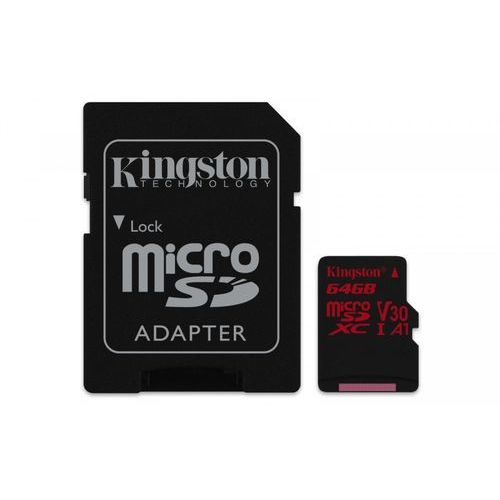 Kingston microSD 64GB Canvas React 100/80MB/s adapter U3 UHS-I V30 A1, 1_629992