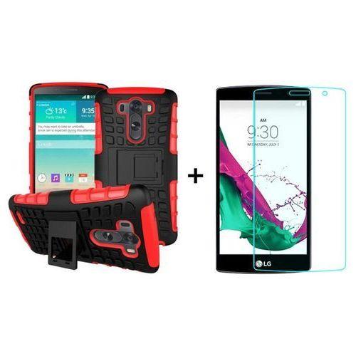 Zestaw Pancerna obudowa etui Perfect Armor Czerwony + Szkło ochronne Perfect Glass LG G4S / LG G4 Beat