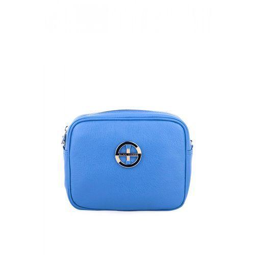 Kobaltowa torebka ze skóry - marki Sagan