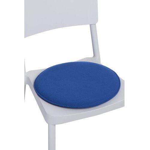 Poduszka na krzesło okrągła niebieska MODERN HOUSE bogata chata