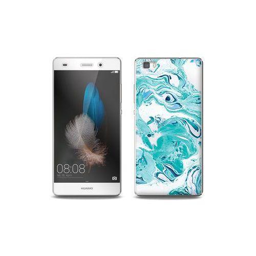 Huawei p8 lite - etui na telefon full body slim fantastic - niebieski marmur marki Etuo full body slim fantastic