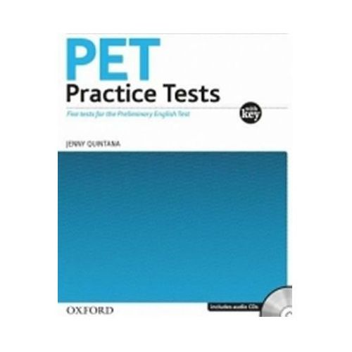 PET PRACTICE TESTS WITH ANSWER KEY and AUDIO CD PACK, Jenny Quintana