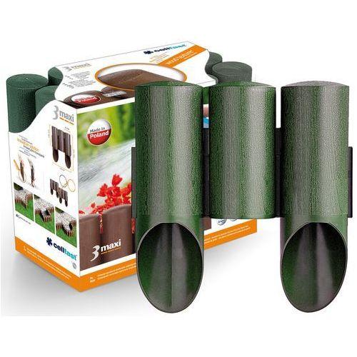 Cellfast Palisada ogrodowa maxi 3-elementowa zielony (5901828853319)