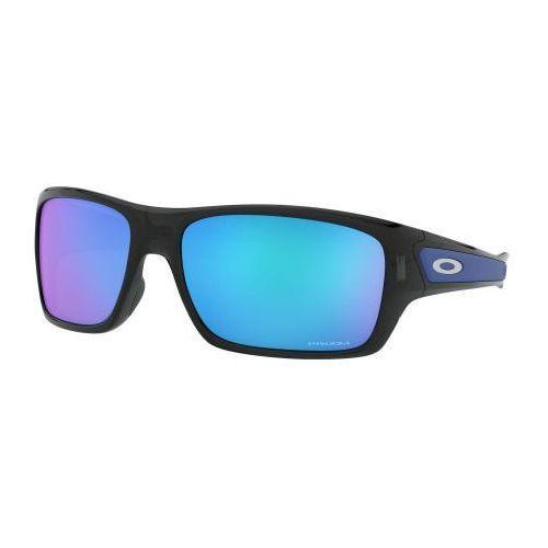 Okulary Oakley TURBINE Black Ink Prizm Sapphire Iridium OO9263-56, kolor czarny