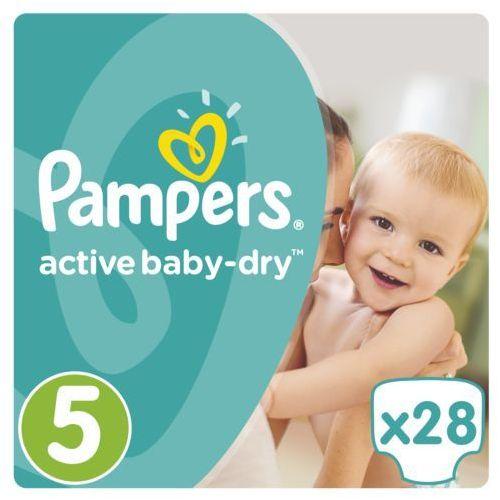 PAMPERS Active Baby pieluchy 5 Junior 28szt pieluszki. Najniższe ceny, najlepsze promocje w sklepach, opinie.