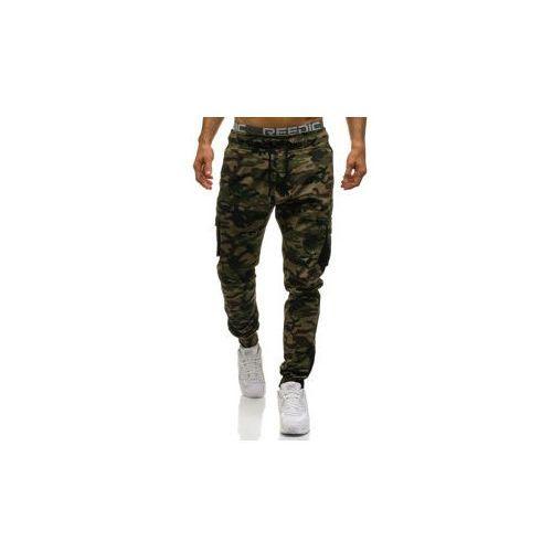 Athletic Spodnie męskie joggery bojówki moro-khaki denley 0705