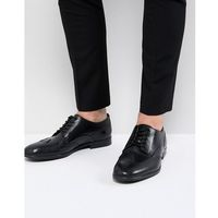aylesbury leather brogues in black - black, H by hudson