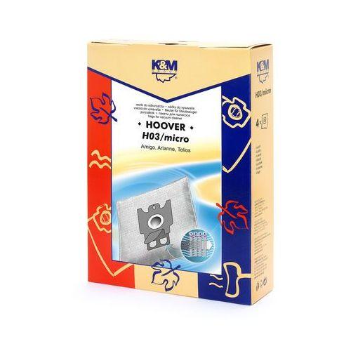 Worki do odkurzacza K&M Hoover H03 MICRO (4 sztuki)