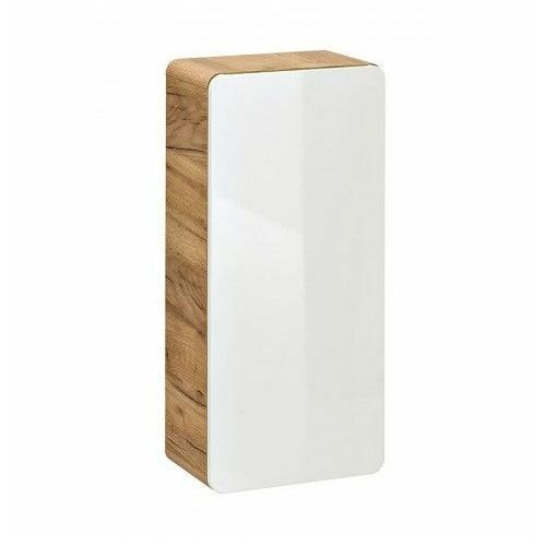 Szafka łazienkowa wisząca Borneo 7X - Biały połysk, ARUBA 830 - Szafka wisząca 35 1D - Dąb Craft Złoty / Biały Połysk