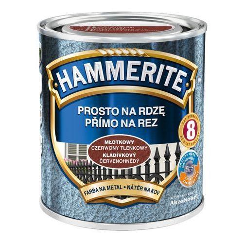Hammerite Farba prosto na rdzę - efekt młotkowy czerwony tlenkowy 0,7l