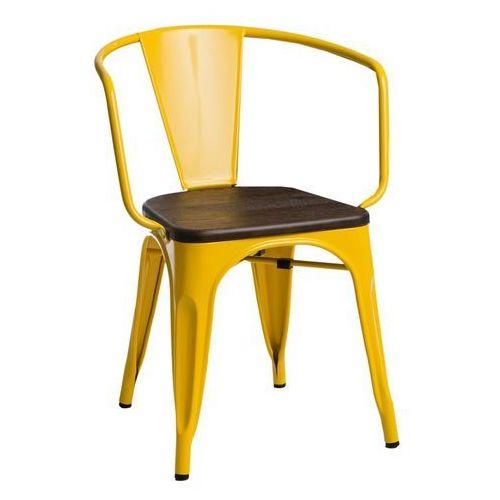Krzesło paris arms wood żółte sosna szcz otkowana - d2 design - zapytaj o rabat! marki D2.design