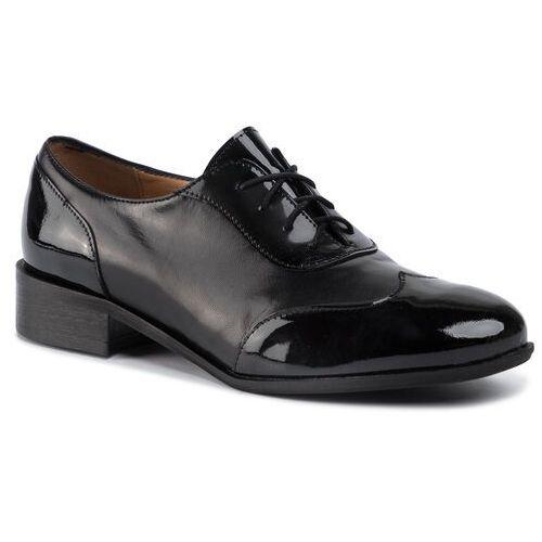 Sagan Oxfordy - 3680 czarny lakier/czarne lico